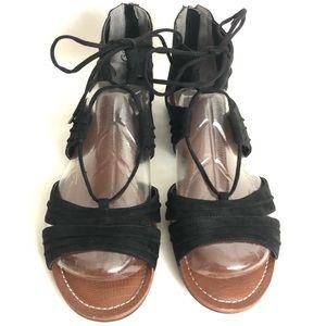 Carlos Santana Suede Tie Up Sandals Size 9M